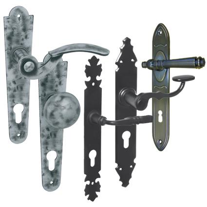 bronzové, retro, kované kľučky