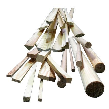 drevené lišty a hranoly