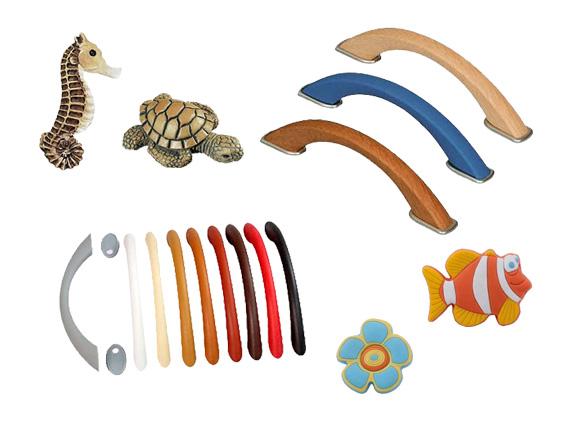 detské, plastové úchyty a knopky